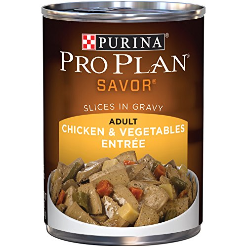 Purina Pro Plan Wet Dog Food, Savor, Adult Chicken & Vegetables Entre Slices In Gravy, 13-Ounce Can, Pack of 12 (Beneful Dog Food Coupons)