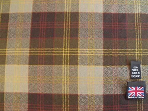 100% Wool-Worsted Plaid Fabric AC10