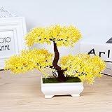 1 PCS Bedroom Beauty Botanical bonsai Landscape Decoration Dance Studio Green Plant Mini Crafts Wedding Landscape AP521152 (Color : Yellow)