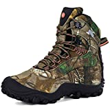 XPETI Mens Hiking Shoes, Boots Outdoor Hiker Trekking Mountain Walking Shoes Mountaineering Summer Vegan Lightweight Tall Safety Mid Camouflage Size 10