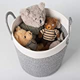 "Medium Cotton Rope Basket – 13""x15"" Decorative"