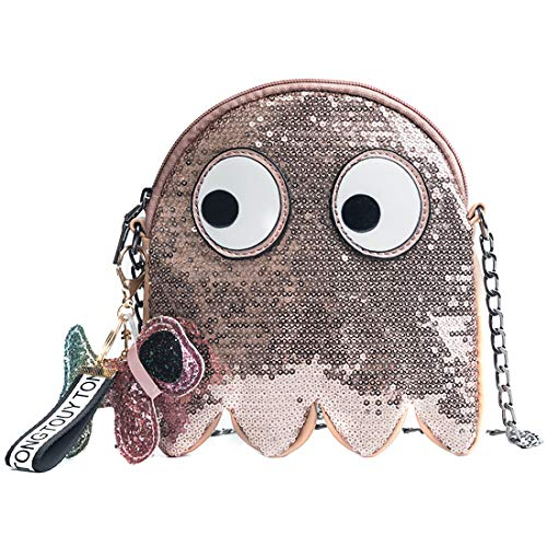 Rose Gold Shoulder Cartoon Handbag Purse Crossbody Bling Mini Pac bag Man Bags Small Cute Sequin 6TxOww
