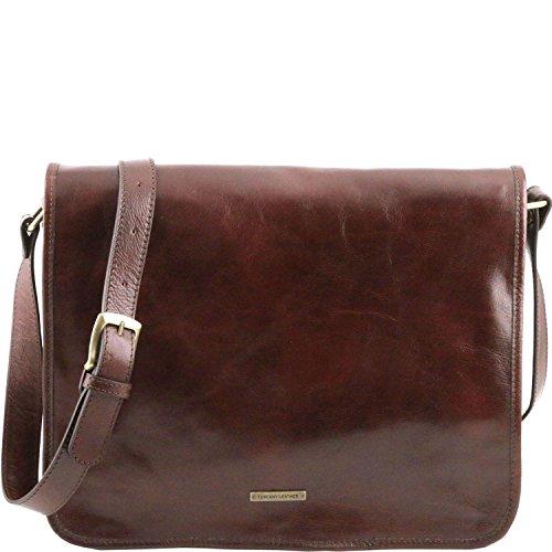 Tuscany Leather Marrone A Messenger Scomparti Misura Tl141254 Tl 2 Grande 1 Tracolla Borsa rBqArdw