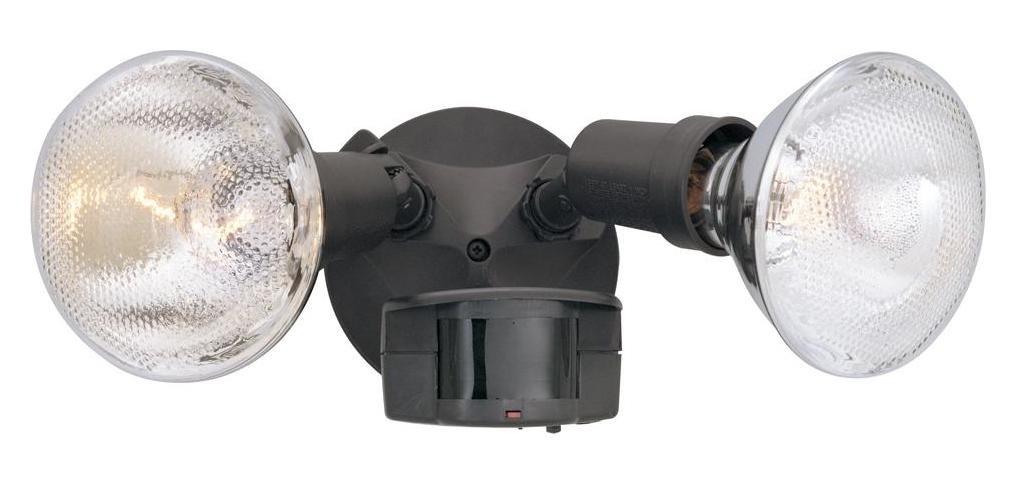 Distressed Bronze 2 Light Motion Detector Flood Light