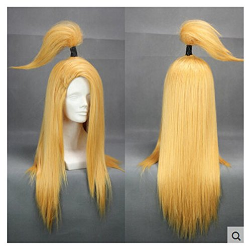 COSPLAZA Long Gold Yellow Cosplay Wig Anime Full Hair Heat Resistant