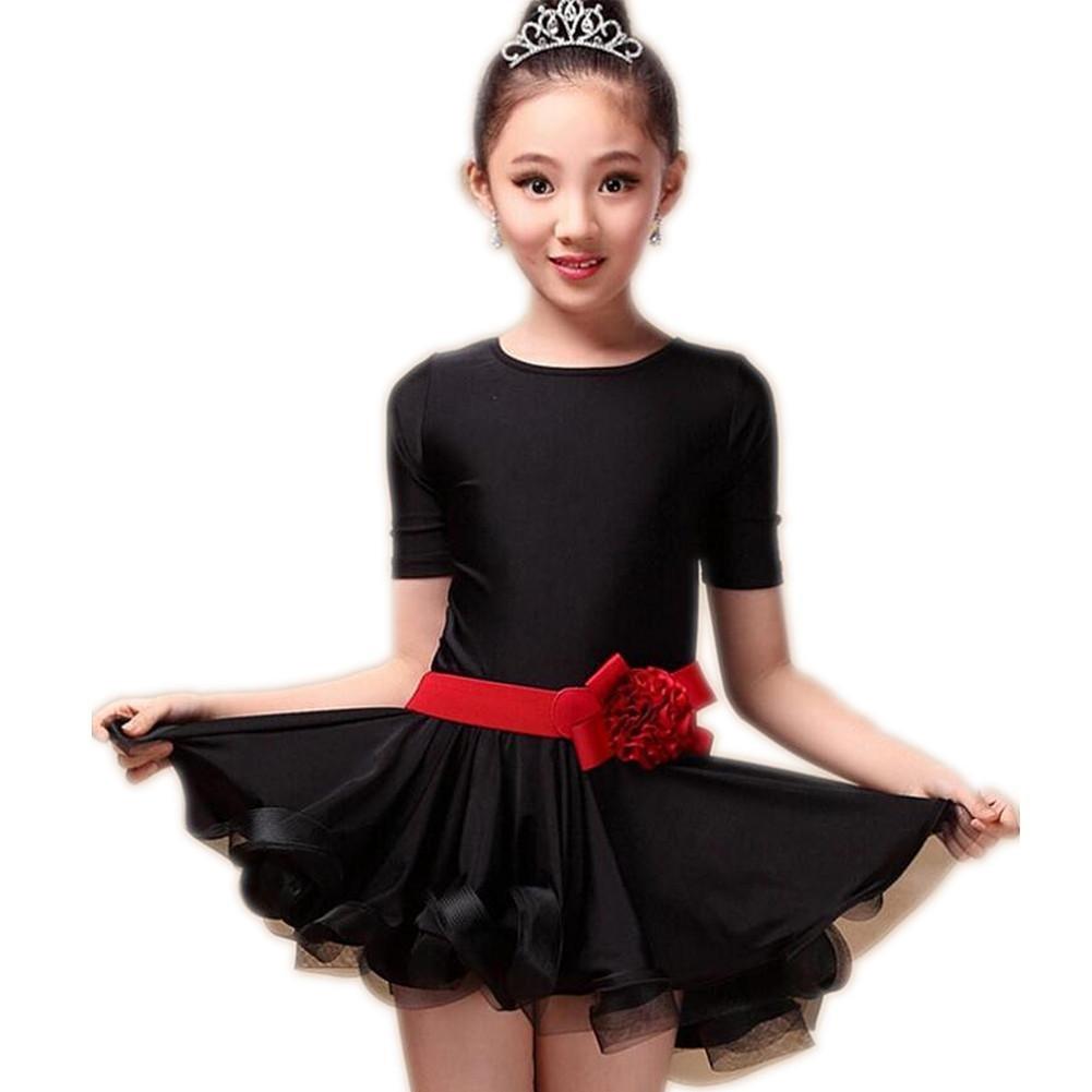 Noir Wgwioo Robe De Spectacles pour Enfants De Danse Latine XXL
