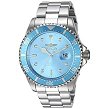 Invicta Men's 'Pro Diver' Quartz Stainless Steel Diving Watch, Color:Silver-Toned (Model: 22051)