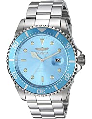 Invicta Mens Pro Diver Quartz Stainless Steel Diving Watch, Color:Silver-Toned (Model: 22051)