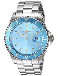 Invicta Men's 'Pro Diver' Quartz Stainless Steel Diving Watch, Color:Silver-Toned (Model: 22051)