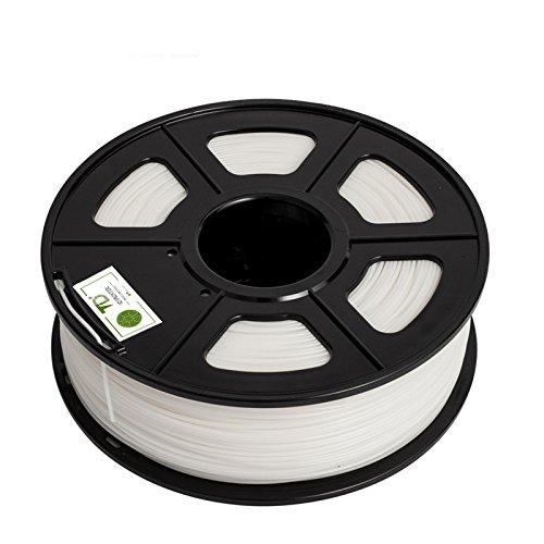 DANTI TECH 3D Printer PLA Filament 1.75mm Dimensional Accuracy +/- 0.05 mm, 1kg Spool (2.2LBS), PLA-1000g-1.75mm - (WHITE) by DANITI TECH