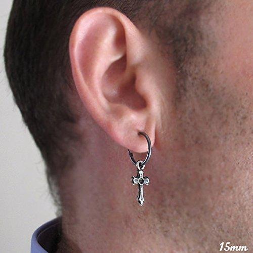 Sterling Silver Earring Cross Pendant