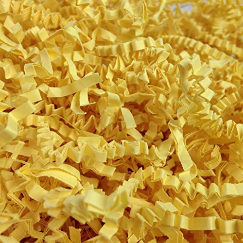 Black Cat Avenue 1/2 LB Canary Yellow Crinkle Cut Paper Shred Filler for Gift Wrap and Basket Filler]()