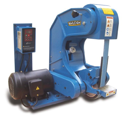 Baileigh BG-260-3-220 3 Wheel Variable Radius Belt Grinder, 220V, 2'' Belt Width, 60'' Belt Length by Baileigh