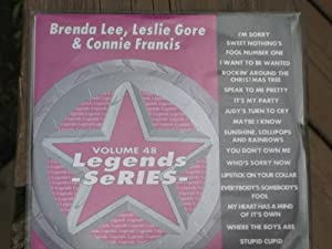LEGENDS Karaoke CDG Vol.48 BRENDA LEE, LESLIE GORE and CONNIE FRANCIS