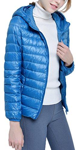 Ultra Cappuccio Del Zipper Pavone Leggero Piumino Parka Giacche Mochoose Rivestimento Donna Invernale con per Del Classico Cappotto qBtRXw