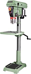 """GENERAL INTERNATIONAL 20"""" Commercial Drill Press - 1 HP Variable Speed Drilling Machine with Bulit-in Laser Guide & Anti-Vibration Technology - 75-510 M1"""
