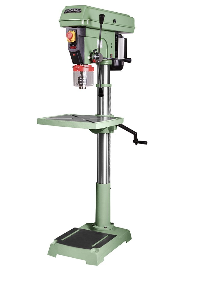 General International 75-510 M1 Floor Commercial Mechanical Variable Speed Drill Press, 20'', Green