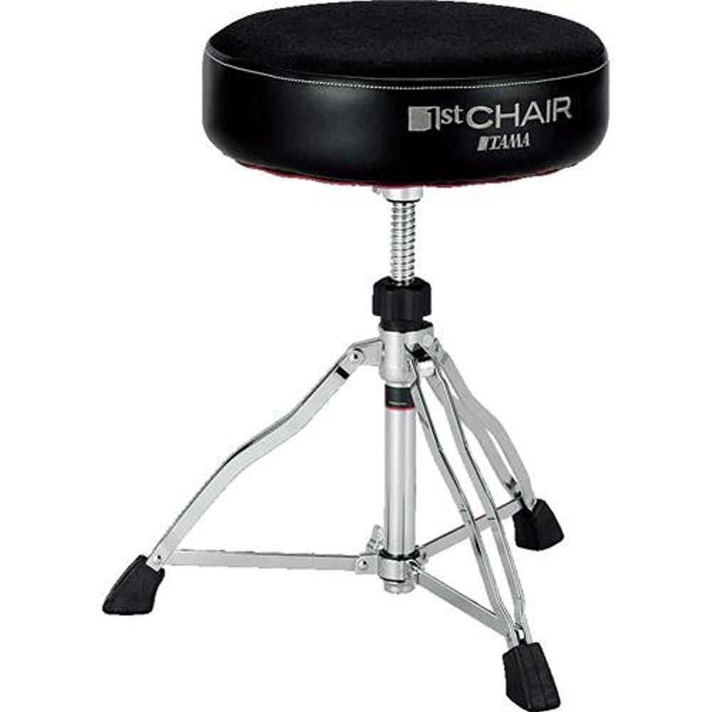 Tama 1st Chair Round Rider Drum Throne Cloth top Black