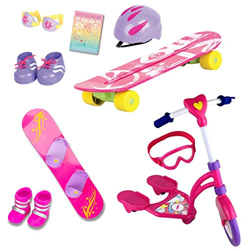 "Beverly Hills Complete 18"" Doll 12 Piece Sports Set, for..."