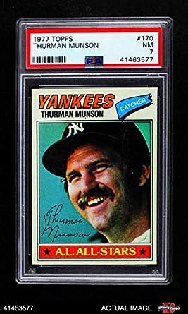 b61ceca4975 1977 Topps   170 Thurman Munson New York Yankees (Baseball Card) PSA 7 -