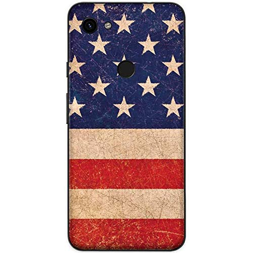 - Skinit Distressed American Flag Google Pixel 3a XL Skin - American Flags Phone Decal - Ultra Thin, Lightweight Vinyl Decal Protection
