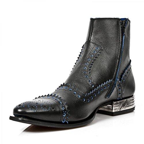 New Rock Boots M.nw133-c1 Punk Rampicante Herren Stiefelette Schwarz