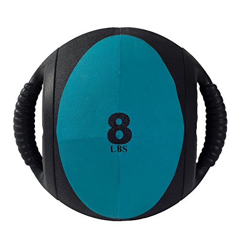 Power Systems CorBall Plus, Medicine Ball with 2-Handles, 9 Inch Diameter, 8 Pounds, Teal (28308)