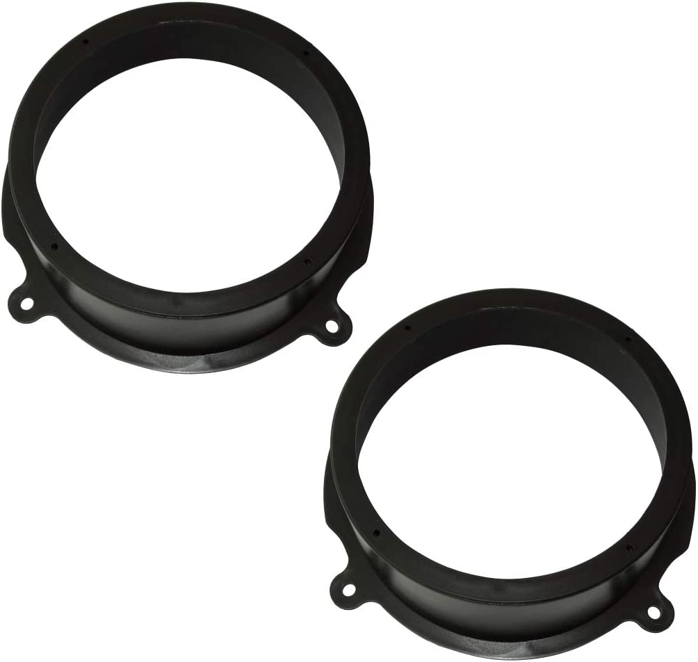 Adapter Holders for 165 mm Rear Car Audio Speakers 2 pcs Set of Ring Sound Speaker Supports Aerzetix
