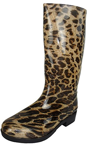 Print Leopard Winter Cream Printed Boot 3 Size UK Cookies and Beige 8 Ladies Snow Wellington Boots Womens Wellies Rain qwxCUfT