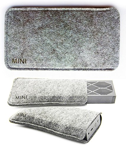 FitSand Soft Slim Portable Travel Carrying Protective Bag Case Cover Pouch Box for Jawbone Mini Jambox Wireless Bluetooth Speaker(Gray)