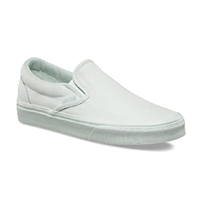 Men's Classic Slip-On (Mono Canvas) Milky Green Skate Shoes