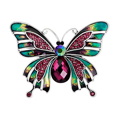 Old Navy Purple Dragon Costume (Retro Colorful Butterfly Rhinestone Brooch Pin Fashion Crystal Jewelry for Women and Girls)