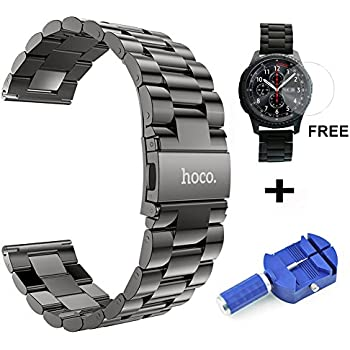 gear s3 frontier band xl large oitom premium solid stainless steel watch bands link. Black Bedroom Furniture Sets. Home Design Ideas