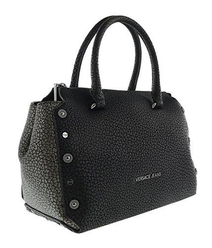 Versace EE1VQBBM1 EMEN Black/Grey Satchel - Black Bag Versace