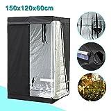 Yaheetech Grow Tents Reflective Hydroponics Plant Growing Room, 48″ L x24″ W x60″ H