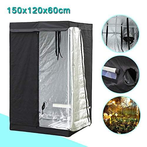 Yaheetech Grow Tents Reflective Hydroponics Plant Growing Room, 48'' L x24'' W x60'' H by Yaheetech