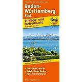 Baden-Württemberg Süd: Straßen- und Freizeitkarte mit Touristischen Straßen, Highlights der Region und Reisemobilstellplätzen. 1:200000 (Straßen- und Freizeitkarte / StuF)