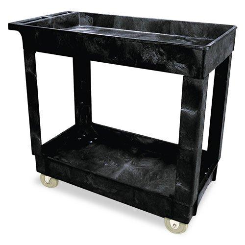 RCP9T66BLA - Rubbermaid-Black 2 Shelf Cart, 16 x 30