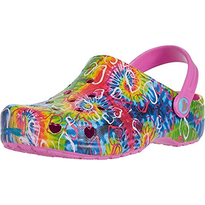 Skechers Unisex-Child Foamies Heart Charmer-Hyper Groove Clog