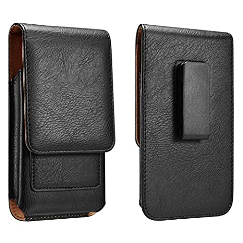 iPhone 8 Plus iPhone 7 Plus Holster iPhone 6S Plus 6 Plus 5.5 Belt Holster Pouch Case Leather Holster With Swivel Belt Clip Cards Slot Fit With Slim Case / Otterbox Commuter Case / Spigen Case - Iphone Vertical Case