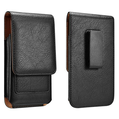 Yuzihan Samsung Galaxy S8 Plus Note 5 4 3 2 S6 Edge Plus S7 Edge Plus Belt Pouch Holster Card Holder Roating Belt Clip Leather Belt Holster Pouch Fit Phone With Slim Case On