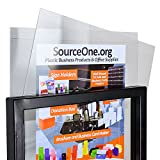 Source One Premium Universal Replacements Sign Overlays Crystal Clear Sets of 2'' Sign Shine'' Protectors (22 x 28 inch, Replacement Sign Overlays)