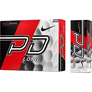 Nike Power Distance Long - Standard Golf Ball 12 Weiß - weiß
