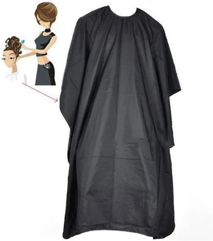 Hair Cutting Cape Salon Hairdressing Hairdresser Gown Barber Cloth Waterproof Cutting Hair Cloth Salon Barber Gown Cape Hairdressing Hairdresser Voberry Hair Capes for Salon Black, 140 X 90cm