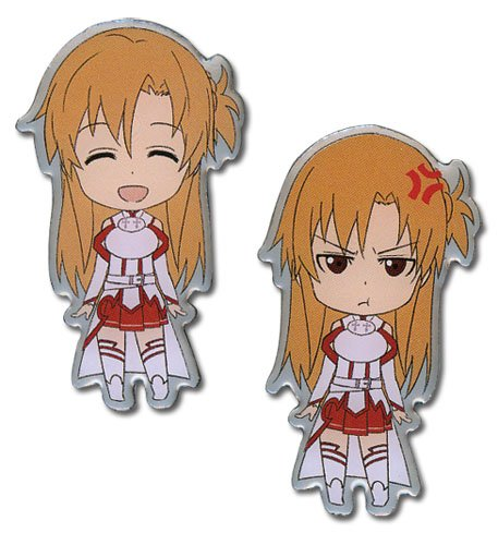 Sword Art Online Anime S.A.O. Happy & Angry Asuna Pin Set (Stores Sa Online)