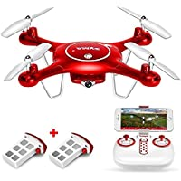 SYMA X5UW WIFI FPV Drone With 720P HD Camera Headless Altitude Hold Mode 2.4G 4CH 6Aix Gro RC Quadcopter RTF with Extra Battery