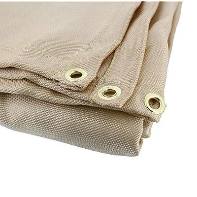 ABN Heavy-Duty Fiberglass Fire Retardant Blanket, 6 x 8ft – Large Welding Fireproof Thermal Resistant Insulation: Home Improvement