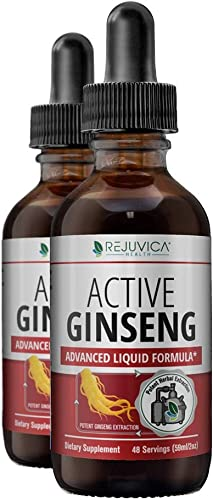 Active Ginseng Korean Red Panax Ginseng with Natural Ginsenosides – All-Natural Advanced Liquid Solution for 2X Absorption – Supports Healthy Energy, Vitality, Mood and More