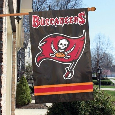 Tampa Bay Buccaneers NFL Applique 2-Sided House Banner Flag ()