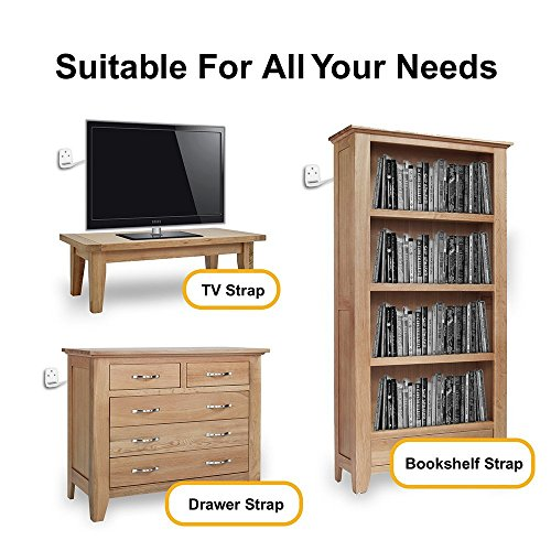 Ella S Homes Furniture And Tv Anti Tip Straps Adjustable